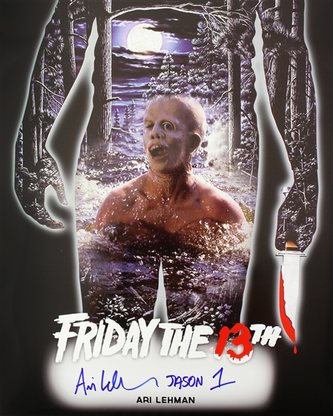 1980 Ari Lehman Friday the 13th Signed LE 16x20 Color Photo (JSA)