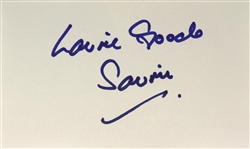 1977 Laurie Goode Star Wars (Saurin) Signed LE 3x5 Index Card (JSA)