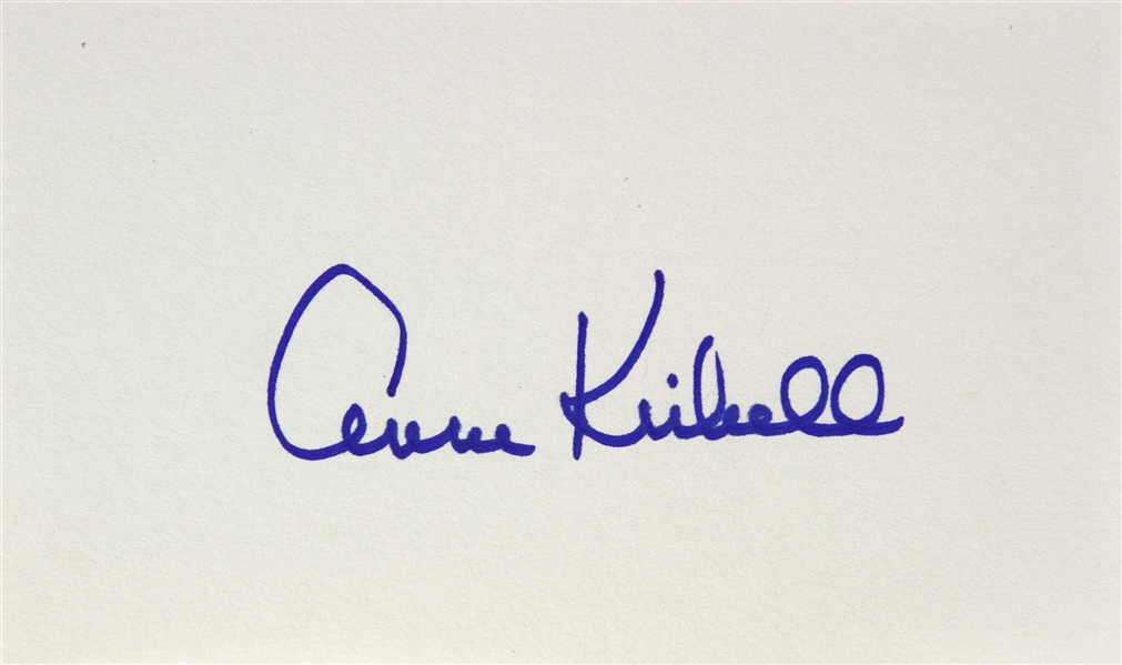 1954 Anne Kimbell Monster from the Ocean Floor Signed LE 3x5 Index Card (JSA)