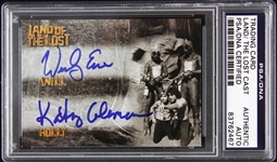 1974-1977 Land of the Lost Wesley Eure/Kathy Coleman Signed LE Trading Card (PSA/DNA Slabbed)