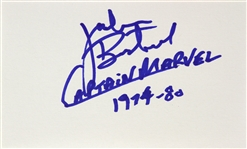 1974-1975 Jackson Bostwick Shazam Signed LE 3x5 Index Card (JSA)