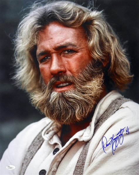 1977-1978 Dan Haggerty The Life and Times of Grizzly Adams Signed LE 11x14 Color Photo (JSA)