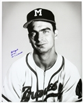 1954-56 Bob Buhl Milwaukee Braves Frank Stanfield Autographed Original 16x20 Hand Developed  Photograph (JSA)