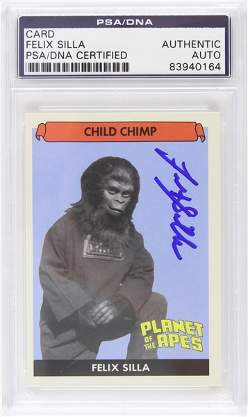 "1968 Felix Silla ""Child Chimp"" Planet of the Apes Signed LE Trading Card (PSA/DNA Slabbed)"