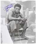 "1977 LeVar Burton ""Kunta Kinte"" Sitting Roots Signed 16x20 B&W Photo (JSA)"