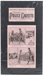 "1921 Jack Dempsey The National Police Gazette 15""x 27"" Matted Issue"