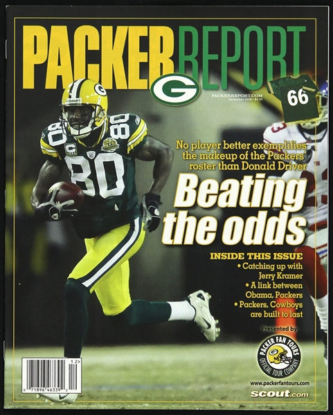 2008 Donald Driver Green Bay Packers Packer Report