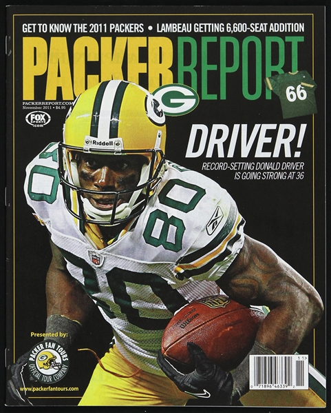 2011 Donald Driver Green Bay Packers Packer Report