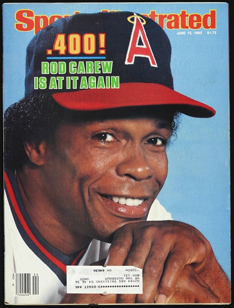 1983 Rod Carew California Angels Sports Illustrated
