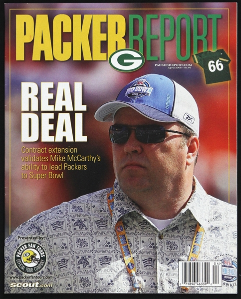 2008 Mike McCarthy Green Bay Packers Packer Report