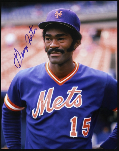 "1982-1986 George Foster New York Mets Signed 11""x 14"" Photo (JSA)"