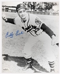 1953-54 Sibby Sisti Milwaukee Braves Autographed 8x10 B/W Photo *JSA*