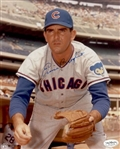 1964-66 Ernie Broglio Chicago Cubs Autographed 8x10 Color Photo *JSA*