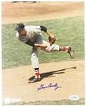 1961-63 Gene Conley Boston Red Sox Autographed 8x10 Color Photo *JSA*