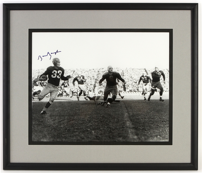 "2000s Sammy Baugh Washington Redskins Signed 24"" x 28"" Framed Black & White Photo (JSA)"