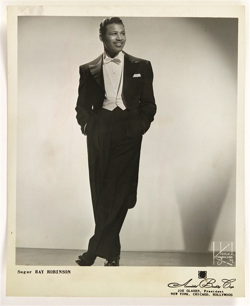 "1953 Sugar Ray Robinson Associated Booking Corp 8"" x 10"" Promo Photo"