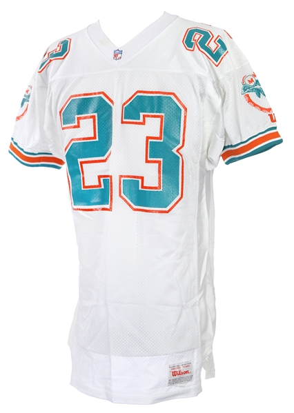 1990 #23 Miami Dolphins Game Worn White Jersey (MEARS LOA)