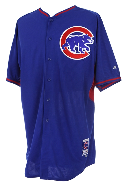2015 Addison Russell Chicago Cubs Batting Practice Jersey (MEARS LOA/MLB Hologram)