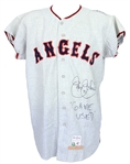 1967 Jay Johnstone California Angels Signed Game Worn Road Jersey + Hardcover Book/Signed Photo (MEARS A9/*JSA*)