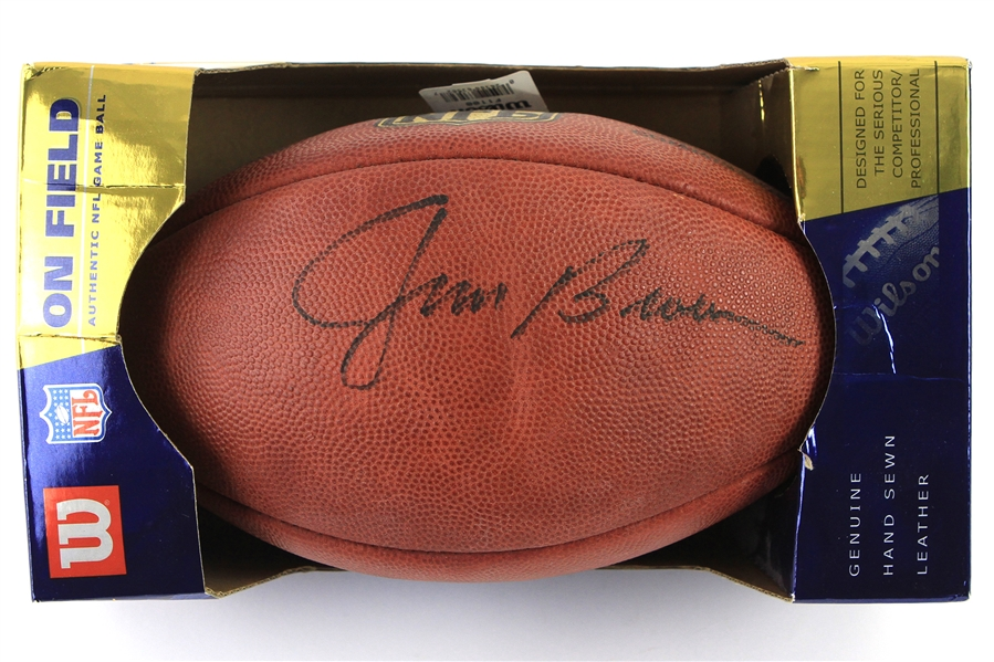 2000s Jim Brown Cleveland Browns Signed ONFL Goodell Footbal (JSA)