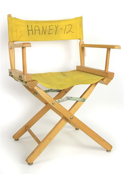 1977-78 Larry Haney Milwaukee Brewers Folding Clubhouse Chair (MEARS LOA)