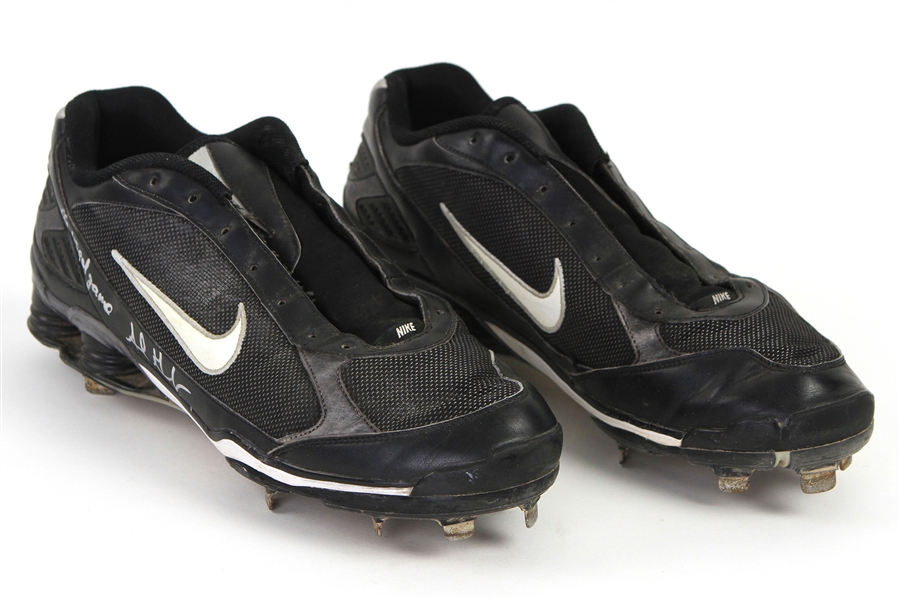 2009 Adrian Gonzalez San Diego Padres Signed Game Worn Nike Cleats (MEARS LOA & PSA/DNA)