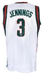 2009-10 Brandon Jennings Milwaukee Bucks Signed Jersey (PSA/DNA)