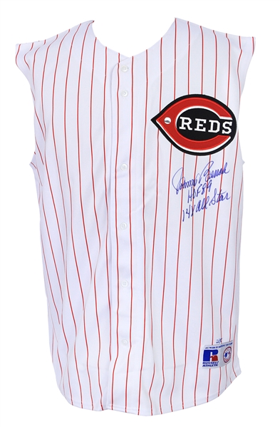 2000s Johnny Bench Cincinnati Reds Signed Jersey Vest (JSA/Player Hologram)
