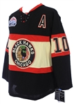 2009 Patrick Sharp Chicago Blackhawks Signed Winter Classic Jersey (JSA)