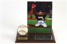 "2000 Ben Sheets Team USA ""The Gold"" Display w/ Signed OML Selig Baseball & Signed 8"" x 10"" Photo (Upper Deck Authentication)"