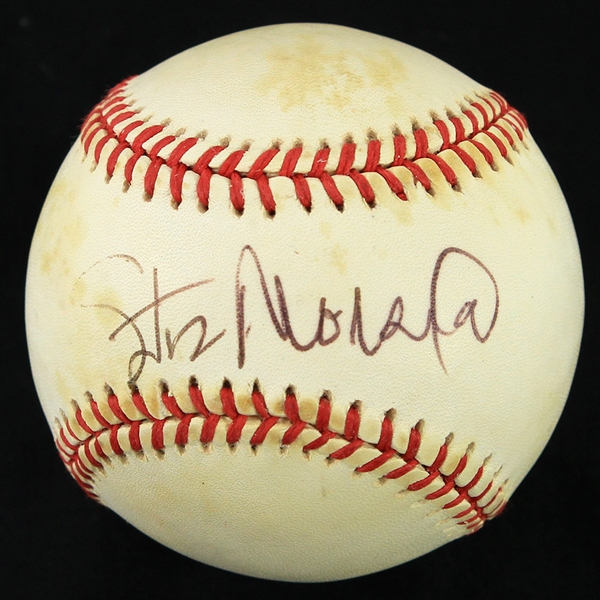 1991-92 Stan Musial St. Louis Cardinals Signed ONL White Baseball (JSA)