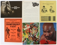 1964-78 Muhammad Ali World Heavyweight Champion Boxing Program & Press Folder Collection - Lot of 9