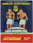1966 (November 14) Muhammad Ali Cleveland Williams Houston Astrodome Heavyweight Title Fight Program