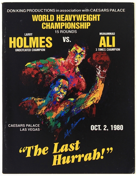 1980 (October 2) Larry Holmes Muhammad Ali Caesars Palace Heavyweight Title Fight Program