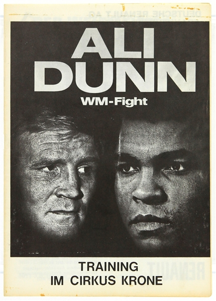 1976 (May 24) Muhammad Ali Richard Dunn German Language Fight Program