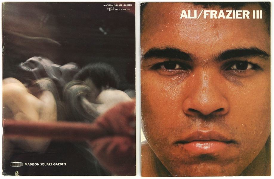 1975 (October 1) Muhammad Ali Joe Frazier III Heavyweight Title Fight On Site & Closed Circuit Programs - Lot of 2