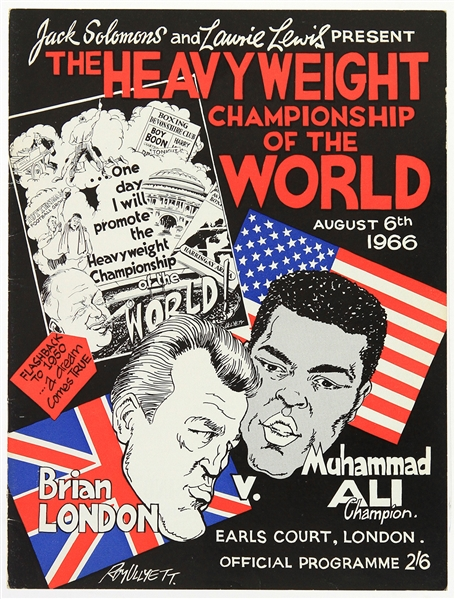 1966 (August 6) Muhammad Ali Brian London Earls Court Heavyweight Title Fight Program