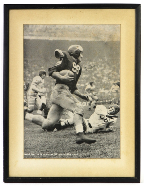 "1940 Tom Harmon Michigan Wolverines Signed 14"" x 18"" Framed Page (JSA)"
