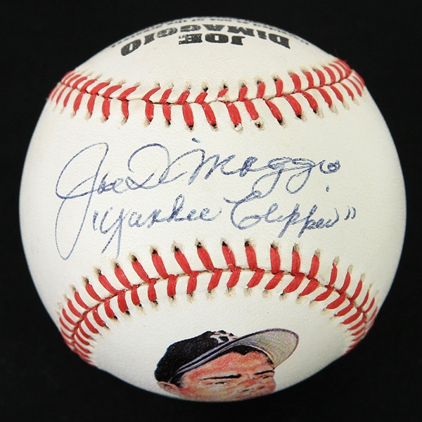 1990s Joe DiMaggio New York Yankees Signed Yankee Clipper Illustrated Baseball (JSA/Yankee Clipper)