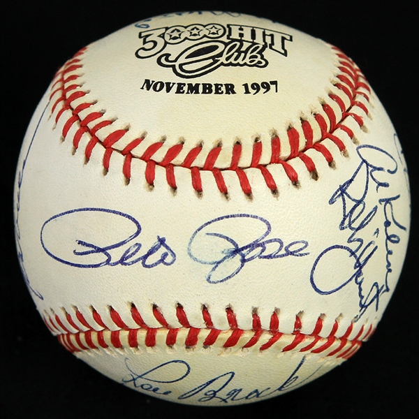 1997 3,000 Hit Club Multi Signed ONL Coleman Baseball w/ 13 Signatures Including Willie Mays, Hank Aaron, Stan Musial, Pete Rose & More (PSA/DNA) 121/125