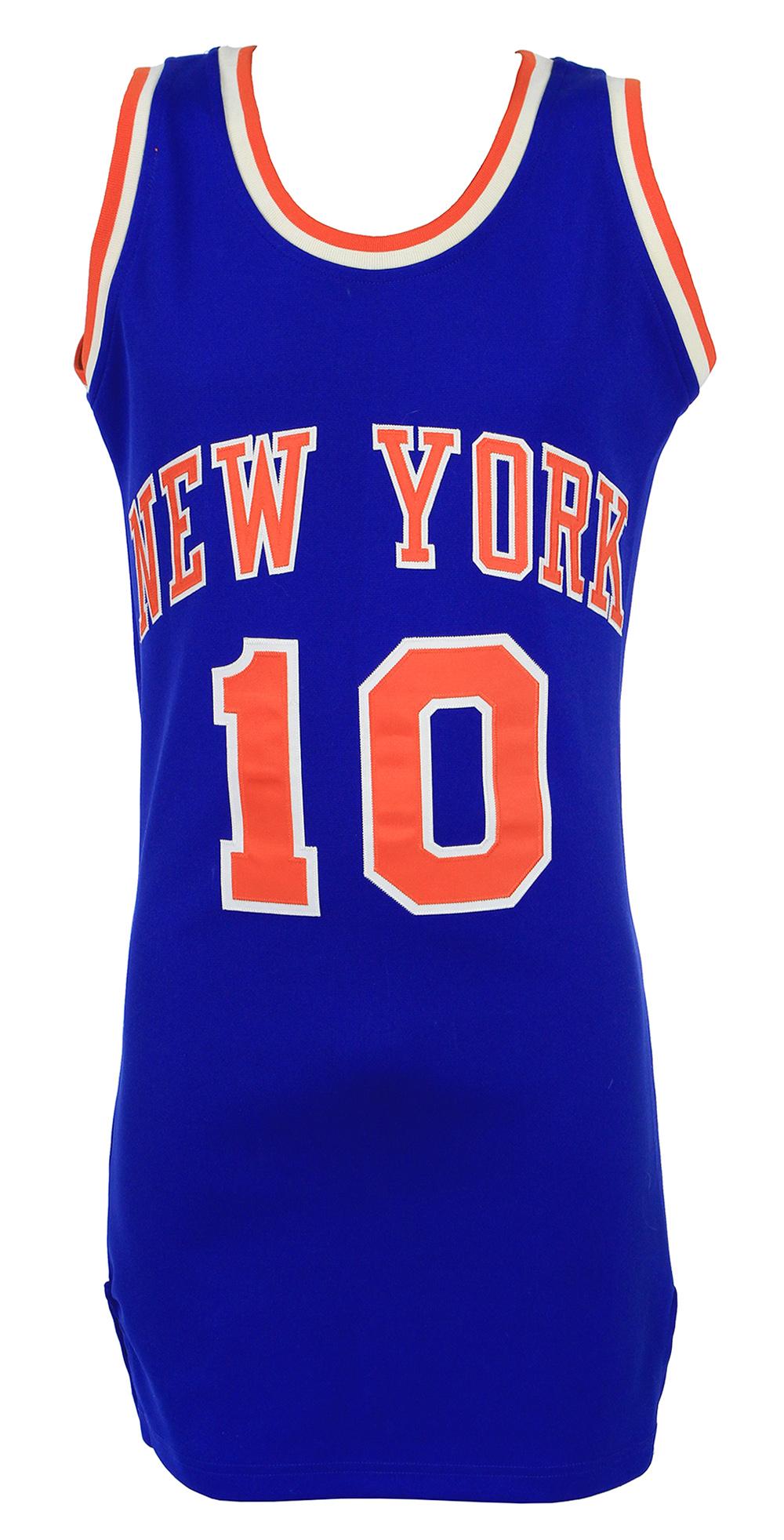 premium selection 4ee9f 064a3 Lot Detail - 1970's-80's Walt Frazier New York Knicks Jersey ...