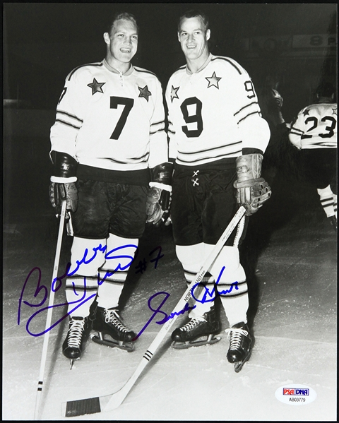"2000s Gordie Howe Bobby Hull Signed 8"" x 10"" Photo (PSA/DNA)"