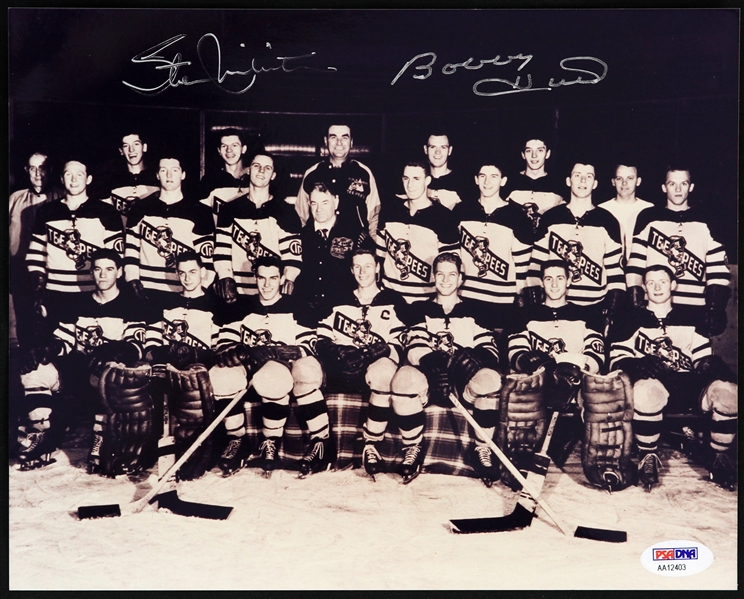 "2000s Bobby Hull Stan Mikita St. Catherines Tee Pees Signed 8"" x 10"" Photo (PSA/DNA)"