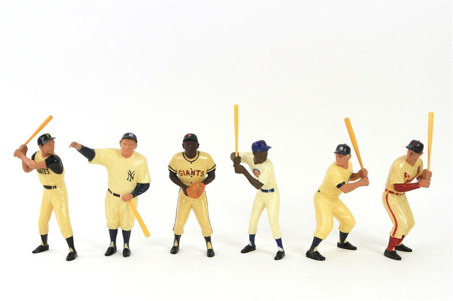 1960s Hartland Baseball Statue Collection - Lot of 18 w/ Mickey Mantle, Ted Williams, Willie Mays, Babe Ruth, Hank Aaron & More