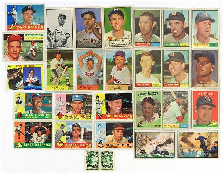 1952-85 Baseball Trading Card Collection - Lot of 28