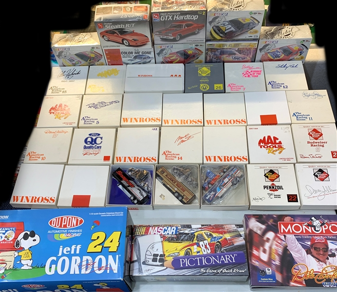1990s NASCAR Games, Model Cars, and more (Lot of 35+)