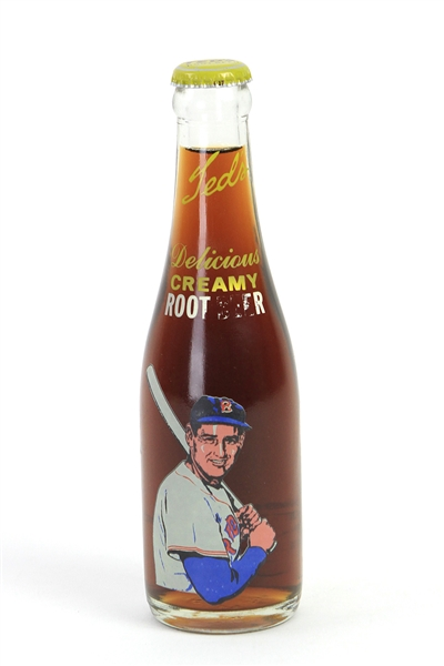1960s Ted Williams Boston Red Sox Moxie Delicious Creamy Root Beer Sealed Bottle