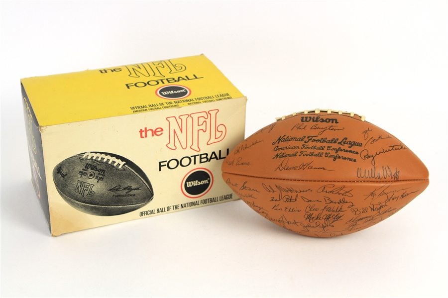1970 Green Bay Packers Team Signed ONFL Rozelle Football w/ 50 Signatures Including Bart Starr, Forrest Gregg, Willie Wood, Travis Williams & More (JSA)