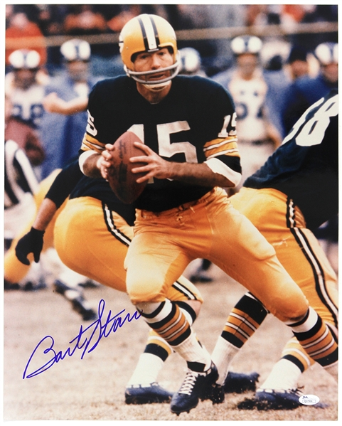 "2000s Bart Starr Green Bay Packers Signed 16""x 20"" Photo (*JSA*)"