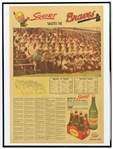 "1956 Milwaukee Braves 18"" x 24"" Framed ""Squirt Salutes The Braves"" Team Photo Newspaper Page"